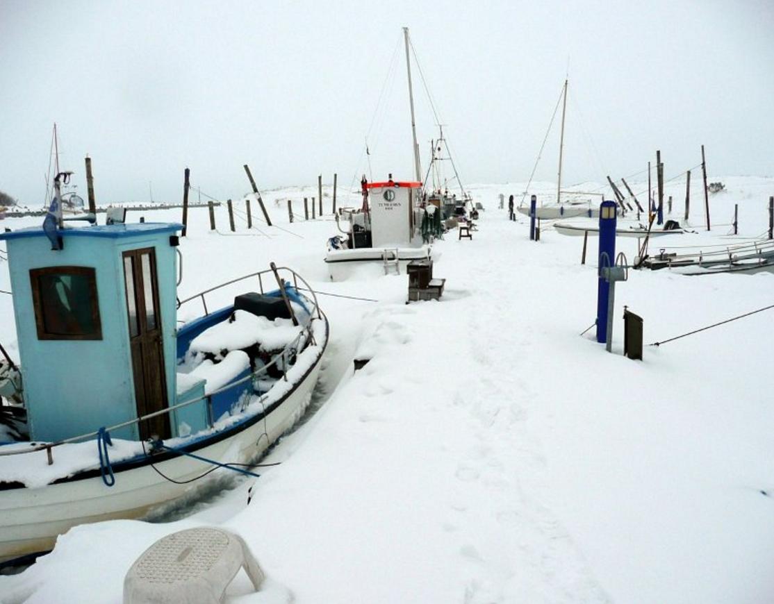 Vinterstemning på Hou Havn