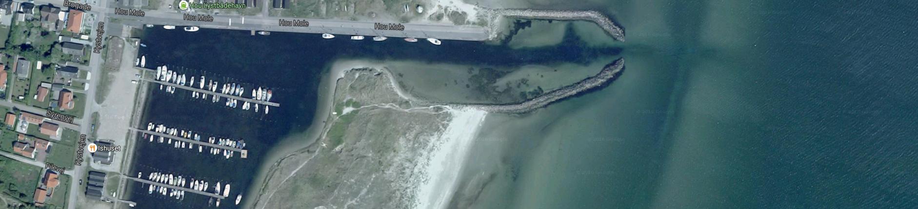 Hou Lystbådehavn set fra luften