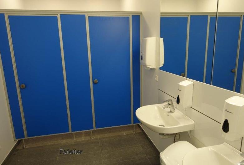 Et af de dejlige badeværelser.