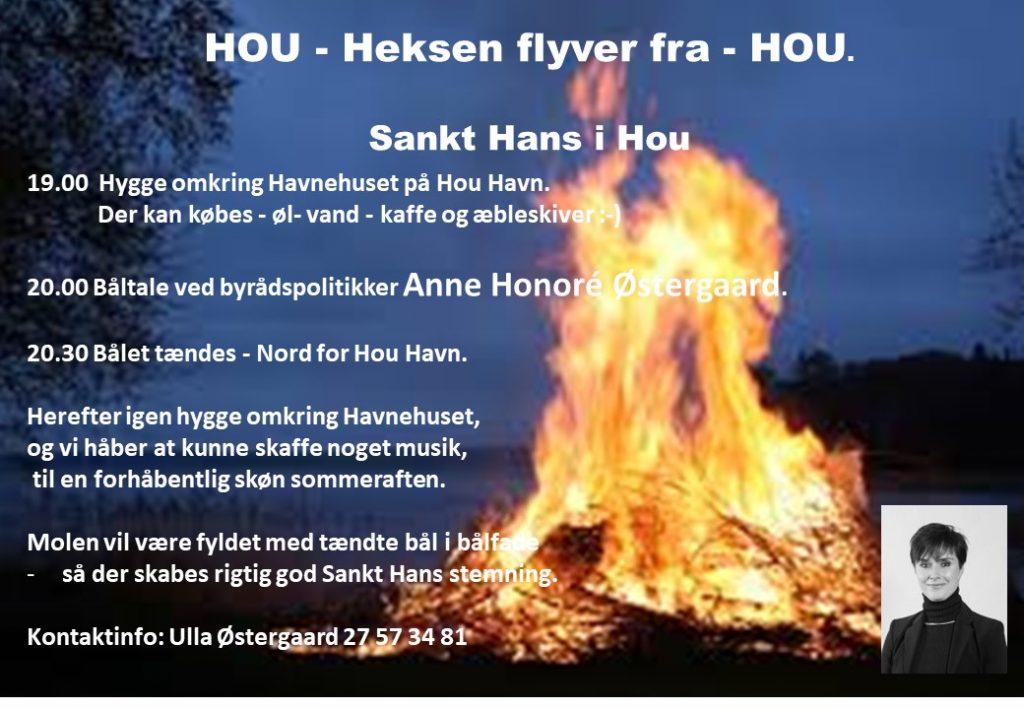 Invitation til Sankt Hans bål på Hou Havn 2018