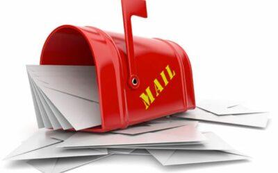 Postkassen er fyldt.